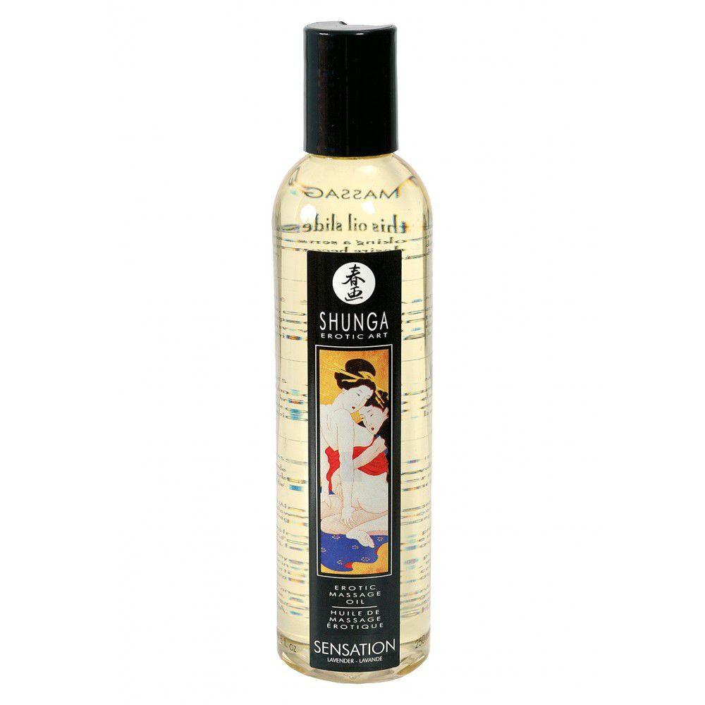 ulei masaj Shunga Sensation cu aroma de lavanda