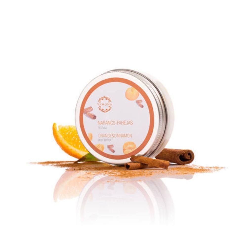 unt de corp yamuna cu aroma portocale scortisoara